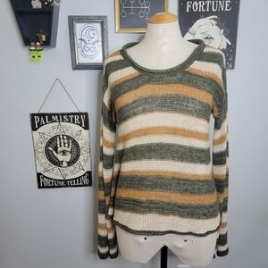 Harlow Small Knit Slouchy Striped Sweater